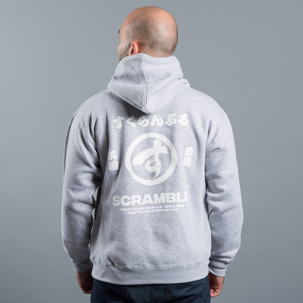 Scramble Brush Logo Pullover Hoody - Grey
