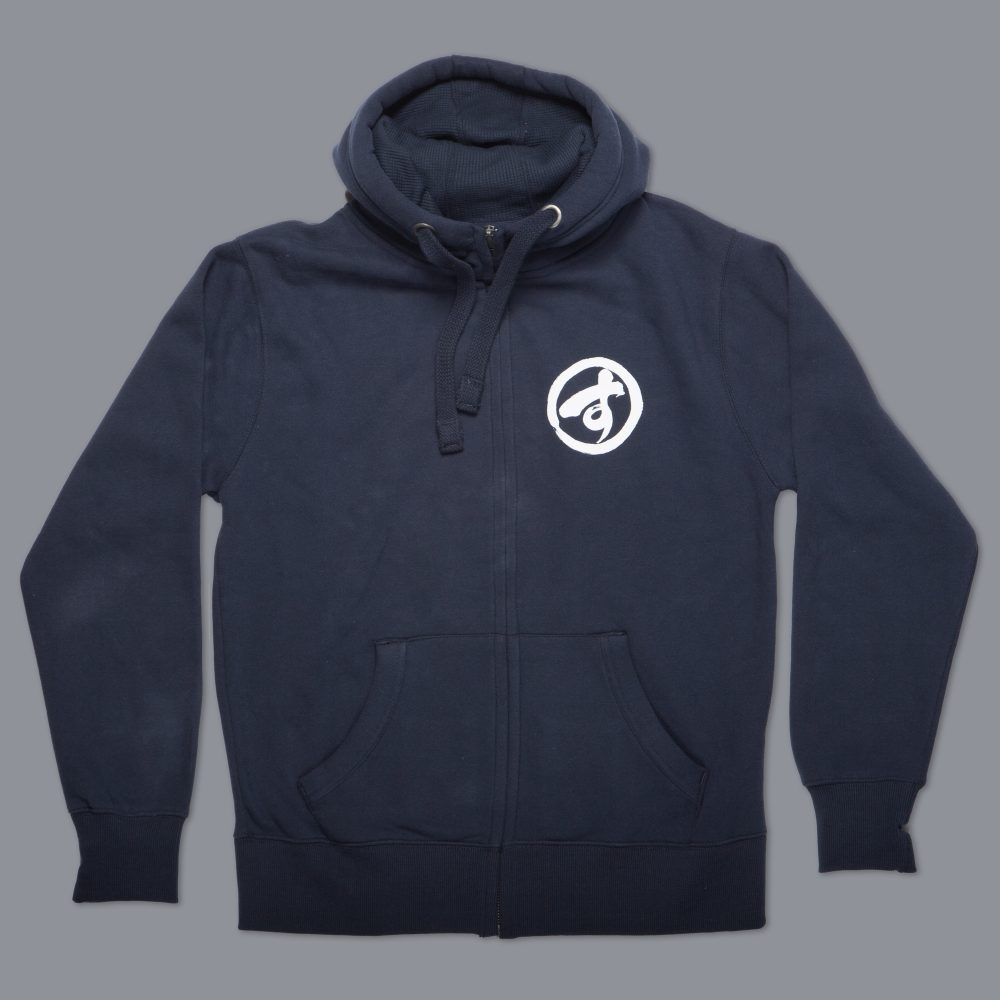 Scramble Brush Logo Zip Hoody - Navy Blue
