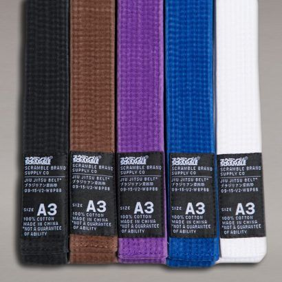 Scramble BJJ Belt V2 - Black