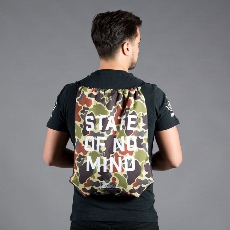 "Scramble ""No Mind"" Camo Drawstring Bag"