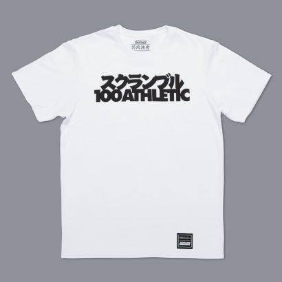 Scramble x 100Athletic Tee - White