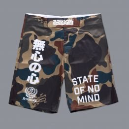"Scramble ""No Mind"" Camo Shorts"