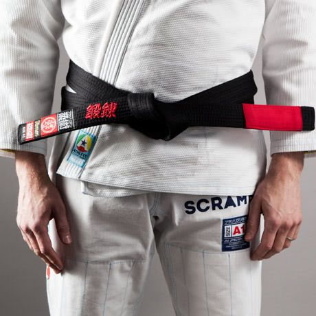 Scramble BJJ Belt - Black