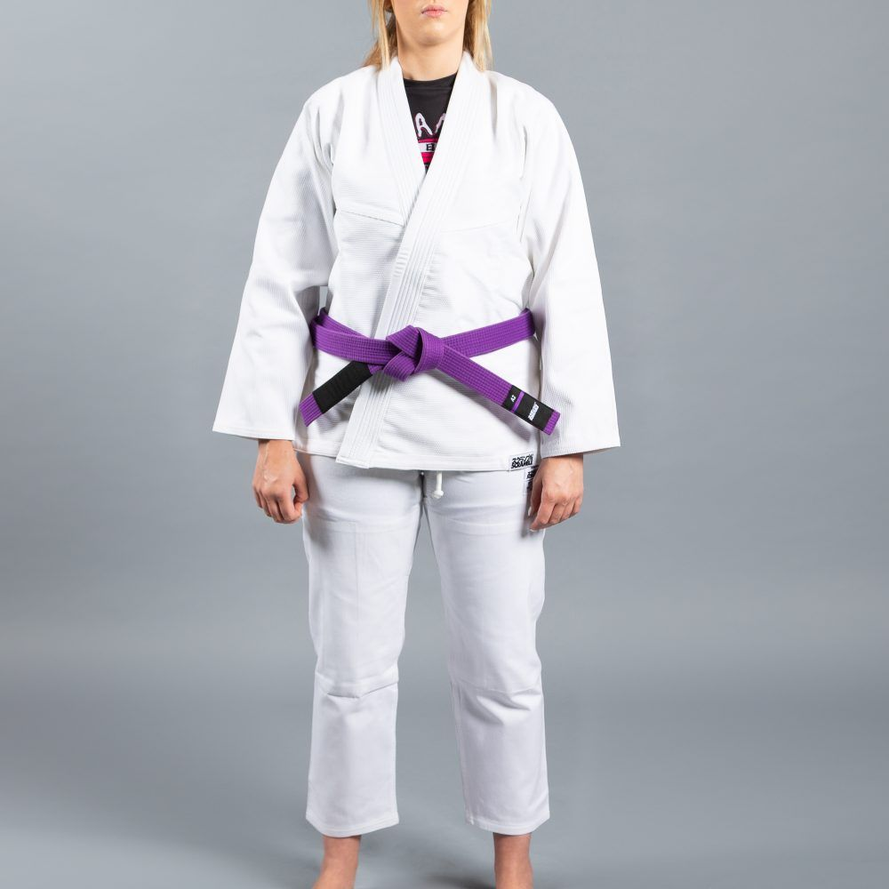 "Scramble ""Standard Issue"" BJJ Gi - Female Cut - White"