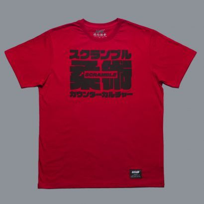 Scramble Big Kanji Tee - Red