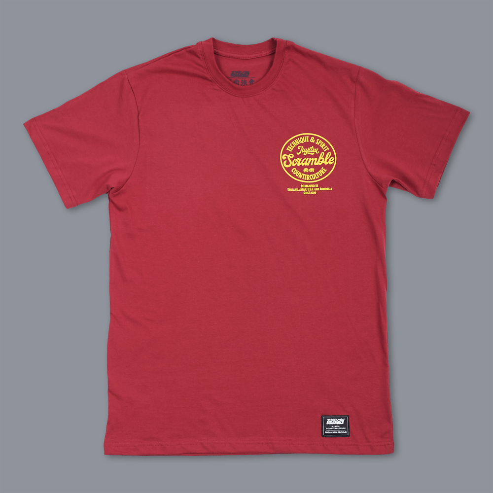 Scramble Technique & Spirit Tee - Red