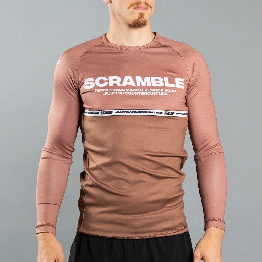 Scramble Ranked Rashguard v4 - Brown