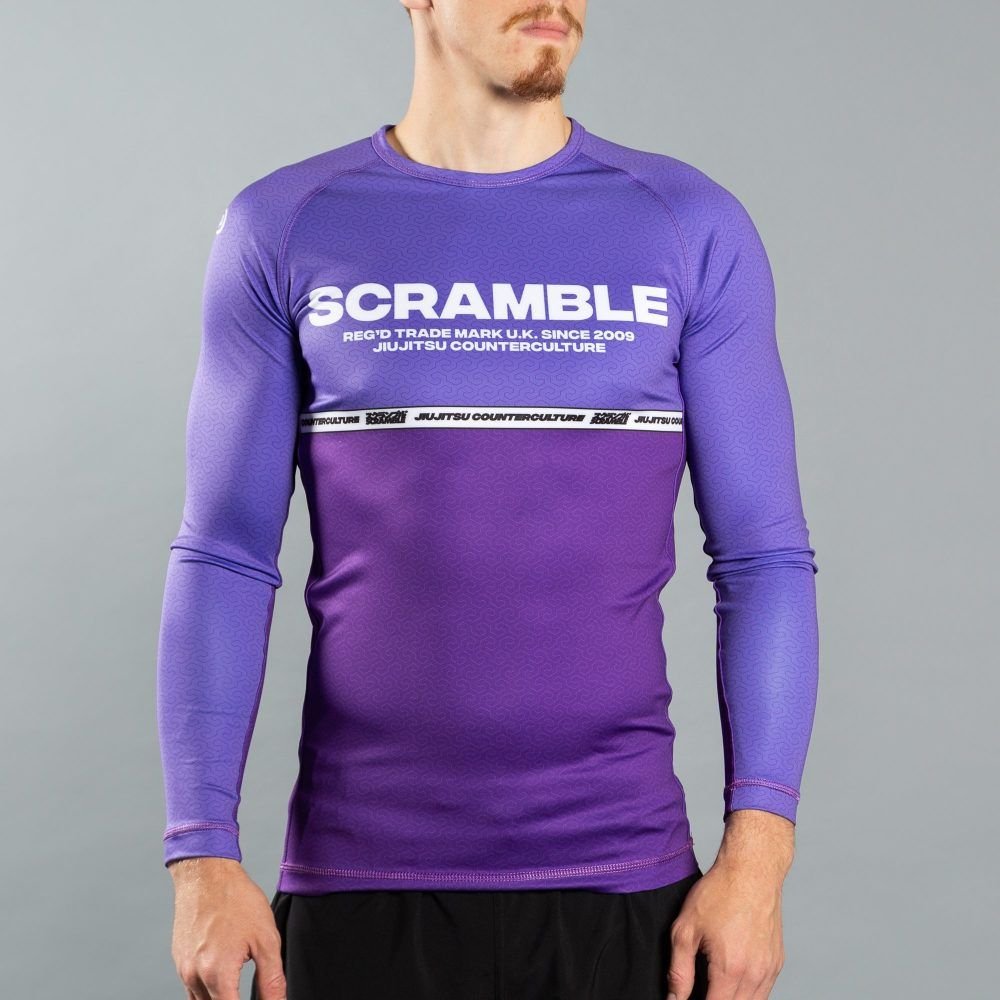 Scramble Ranked Rashguard v4 - Purple