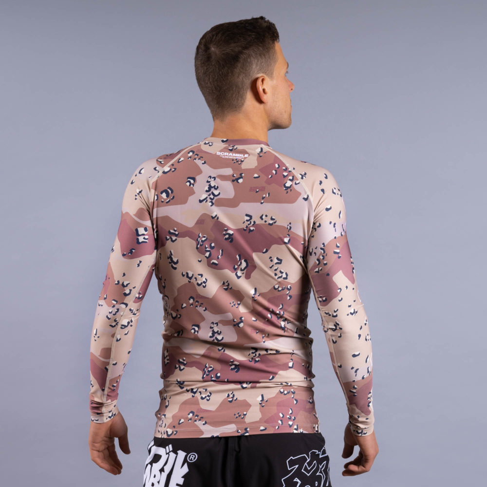 Scramble Base Rashguard - Choc Chip