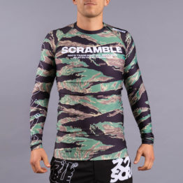 Scramble Base Rashguard - Tiger Camo